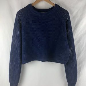 Silence & Noise Cropped Sweater Top
